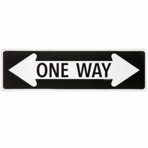 """Crazy One Way Sign -  6"""" x 18"""" Aluminum Sign - FREE SHIPPING - BRAND NEW"""