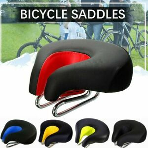 Wide Bike Saddle Noseless Bicycle Seat Bum Soft Gel Breathable Air Cushion Pad