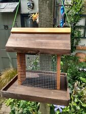 wild bird peanut feeder hinged lid for easy filling hanging or freestanding