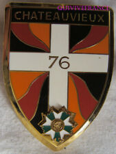IN12523 - INSIGNE 76° R.I, CHATEAUVIEUX, type 1929, Arthus Bertrand pour ATLAS