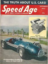 1953 SPEED AGE September ALLARD Studebaker Starliner DERHAM TASCO MG DVU