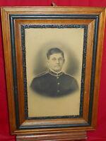 Antique Framed Photograph Portrait Of Soldier