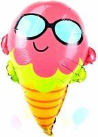 Glace avec Lunettes de Soleil Cadeau Helium Ballon Feuille Fête D'Anniversaire