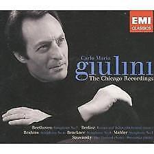 GIULINI: THE CHICAGO RECORDINGS (MAHLER/BRUCKNER/BRAHMS/BEETHOVEN) EMI 4 CDs