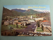 Aerial Town View Of ESTES PARK COLORADO CO Vintage Postcard