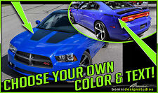 2014 2015 2016 Dodge Charger Daytona Style Hood and Quarter Graphics Decals #3