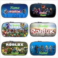Game Roblox Personalised Boys Girls School Student Pencil Bag Kid's Card Pen Bag