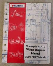 """2001 Suzuki Motorcycle & Atv Wiring Diagram Manual """"K1"""" Models 99923-54001"""