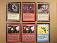 MTG lot of 6 Antiquities cards - Millstone, Urza's Chalice, Atog, Reconstruction