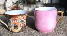 Mini China Tea Cups (2) Slip Pots Mini African Violet ? No Drainage