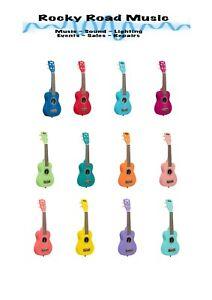 12 x KALA Ukadelic Soprano Ukulele in various colours SCHOOL Orchestra Beginner