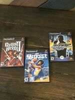 PS2 Game Lot: NBA Street-007 Agent Under Fire- Guitar Hero 2 tested