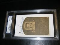 Waite Hoyt Autographed HOF Cut PSA Certified Encapsulated