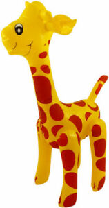 LARGE INFLATABLE GIRAFFE Blow Up Toy Animal Inflate Kids Party Decoration 59 cm