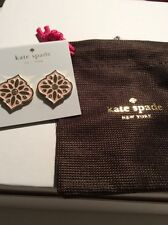 $58 Kate Spade Pink Moroccan Tile  Statement Earrings #96 D