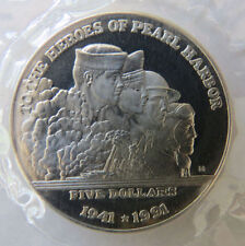 To The Hereos Of Pearl Harbor 1941*1991 Marshall Islands Sealed Coin $5 dollar