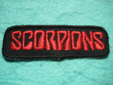 "Vintage Scorpions Band Music Group Patch 4 3/8 "" X 1 1/2"""