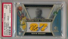 KEVIN DURANT 2007/08 SP ROOKIE THREADS RC GOLD AUTO DUAL JERSEY #/50 PSA 9 MINT