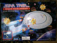 PLAYMATES U.S.S. ENTERPRISE NCC-1701-D SPACE TALK, STAR TREK NEXT GEN., SEALED