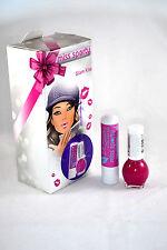 MISS SPORTY GLAM KISS set with nail polish & lip balm