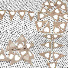 3M LONG CHIC HEART FLAG BUNTING GARLAND PENNANTS GARDEN PARTY WEDDING DECORATION