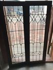 Sg 1720 Oak Pair Antique Arts And Crafts Bookcase Doors 32 X 47.75