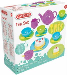 Casdon Tea Set Role Pretend Play Kids Childrens Toy Playset Fun Gift 32 Pieces