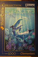 1000 Piece Jigsaw Puzzle CLEMENTONI L'art de Lassen Dolphin Symphony