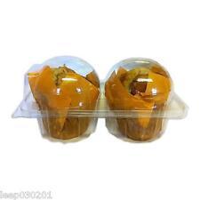 50x Doble Individual Plástico cupcake/Muffin FUNDAS ESTUCHES Domos Cupcake Cajas