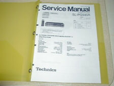 Technics SL-PG540A CD Service Manual