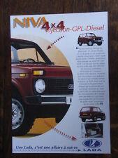 Lada Niva 4x4 Injection, GPL, Diesel, prospectus/depliant, F