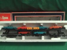 LIMA OO BRITISH LEYLAND CAR TRANSPORTER WITH 6 CARS IN V.G.C.BOXED.SUITS HORNBY