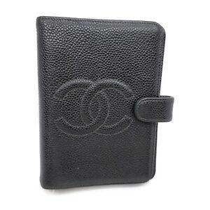 Chanel Diary Cover Coco Mark Black Caviar Skin 1723925