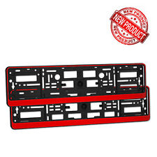 2 x Glossy Red Series Number Plate Holders Licence Plate Surrounds Frames ABS R1