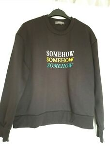Excellent condition primark somehow black sweatshirt size 12 - 14