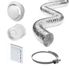 "4"" Inline Bathroom Extractor Fan Timer Full Kit Ventilation for Bathroom Shower"