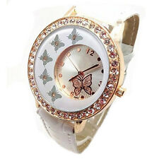 Butterfly Crystal PU Watch