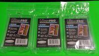 Lot of 3  Ultra Pro 1-SCREW 32pt SCREWDOWN RECESSED Baseball Card Holder #81139
