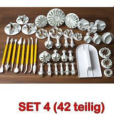 42- tlg. SET Ausstecher Fondant Modellierwerkzeug Glätter Kuchen Ausstecherform
