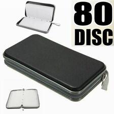 80 CD/DVD Storage Wallet Car Disc Holder Carry Case Pocket Protector Sleeve