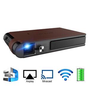 DLP Wifi Smart 3D Heimkino Projektor beweglicher HDMI Mirroring Schirm HD 1080P