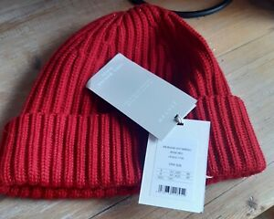 Jigsaw Merino Wool Red Beanie Women BNWT