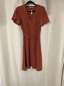 Spicy Sugar Rust Wrap Dress Size 8