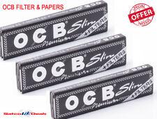 OCB Black FILTER & PAPERS Premium King Size Slim Rizla Natural Rolling Smoking