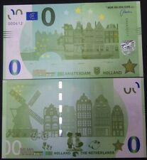 0 euro souvenir biljet Amsterdam memoeuro €0 canals