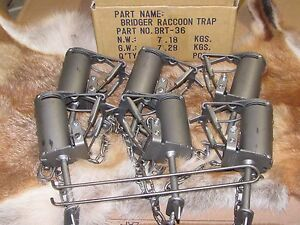 1 DP SETTER + 6 - BRIDGER T-3 DP DOGPROOF RACCOON TRAPS NEW SALE trapping