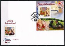 SIERRA LEONE 2015 ROTARY INTERNATIONAL PAUL HARRIS  SOUVENIR SHEET FDC