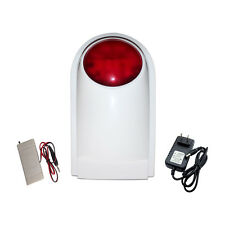 Wired External Sound Flash Light Strobe Siren for GSM PSTN House Alarm System