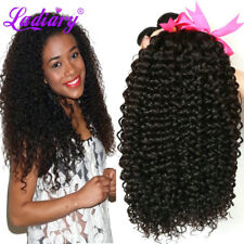 3 Bundle Kinky Curly Weave Brazilian 150g Virgin Human Hair Weft Extension14-18
