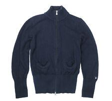 womens Cardigan GANT cotton Sweater Size M, used - Navy Blue